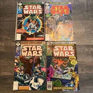 Lot of 4 Star Wars Comic Books #1,2,3 and 02817